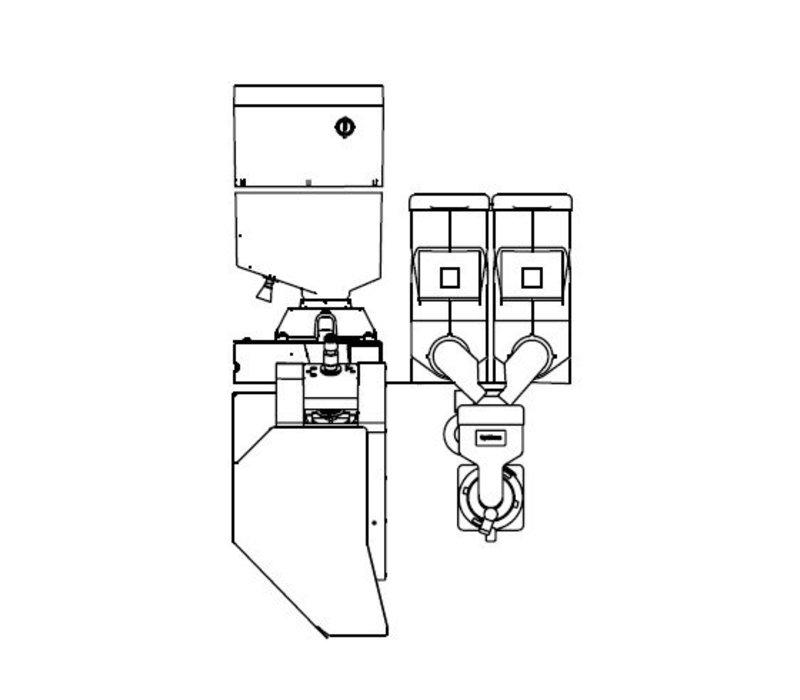 Animo Optibean 3 NG | Koffiebonen | 2 Canisters | Beschikbaar in 3 Kleuren