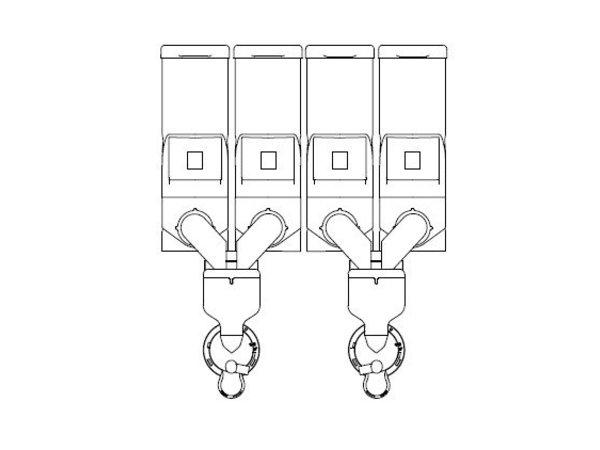 Animo Optivend 42 NG | Oploskoffie | 4 Canisters | Beschikbaar in 3 Kleuren