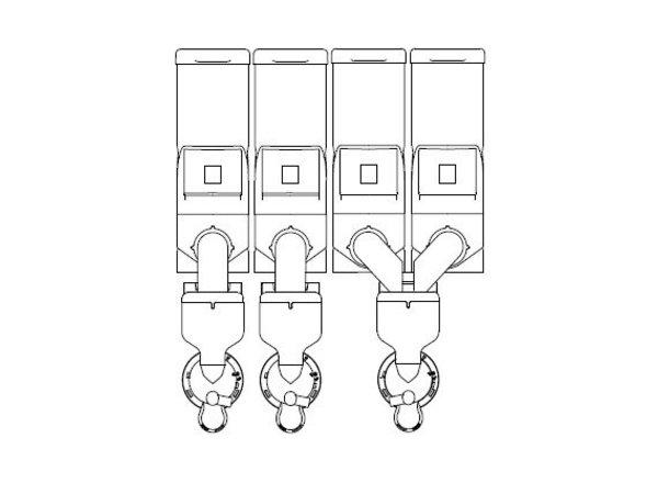 Animo Optivend 43 NG | Oploskoffie | 4 Canisters | Beschikbaar in 3 Kleuren