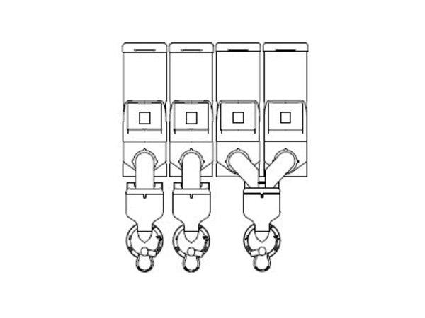 Animo Optivend 43 TS NG | Oploskoffie | 4 Canisters | Beschikbaar in 3 Kleuren