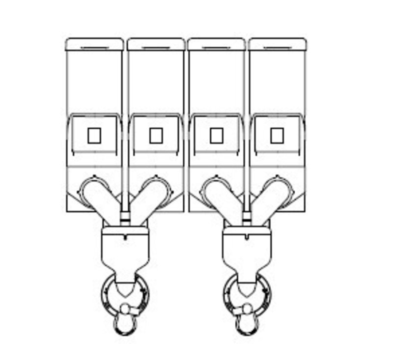 Animo Optivend 42 TS HS Duo NG (400V) | Oploskoffie | 4 Canisters | Beschikbaar in 3 Kleuren
