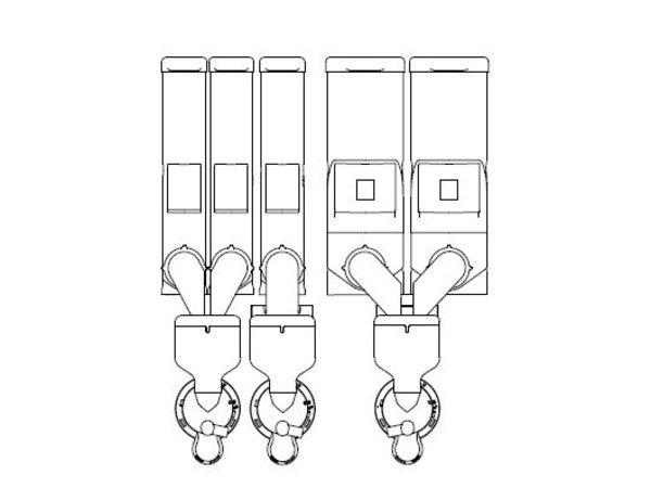 Animo Optivend 53 TS HS Duo NG | Oploskoffie | 3+2 Canisters | Beschikbaar in 3 Kleuren