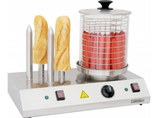 Casselin Hotdogstation - Met 4 Verwarmingsstaven - RVS - 500x285x(H)390mm