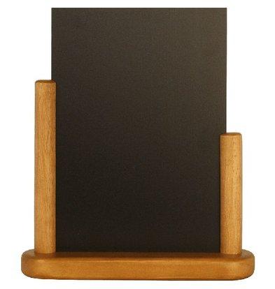 Securit Tafelkrijtbord Elegant | Teakhouten Afwerking | Formaat A6 | 150x210mm