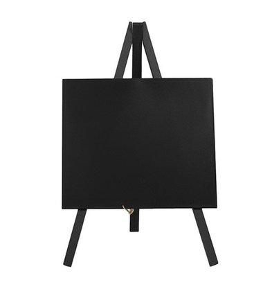 Securit Tafelkrijtbord Mini Zwart | Driepoot | Incl. Krijtstift | 240x150mm