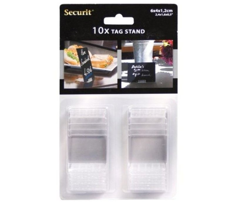 Securit Acrylic Stands Transparent   For Chalkboard Pricetags (excl.)   Per 10 pieces