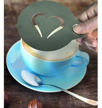 Securit Koffie Sjabloon 'Smiley' en 'Hart' | Per 2 Stuks