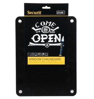 Securit Raam Krijtbord met Zuignapppen | Dubbelzijdig schrijfbaar | 270x360mm