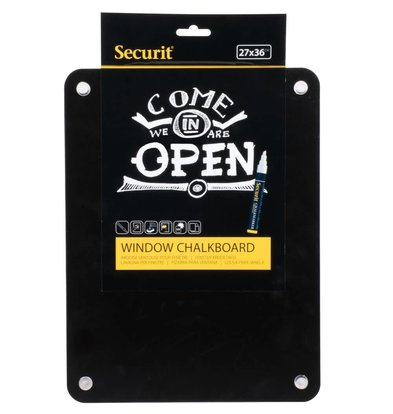 Securit Window Chalkboard with suction cups | Duplex Writing | 270x360mm