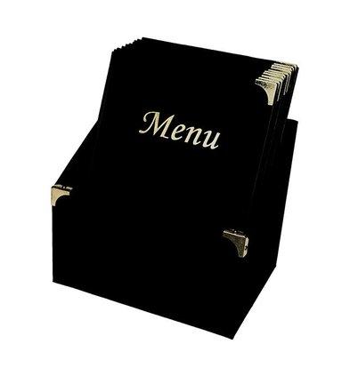 Securit Menukaarten Box incl. 10 Menukaarten Zwart Basic | Formaat A4 | 370x290x210mm