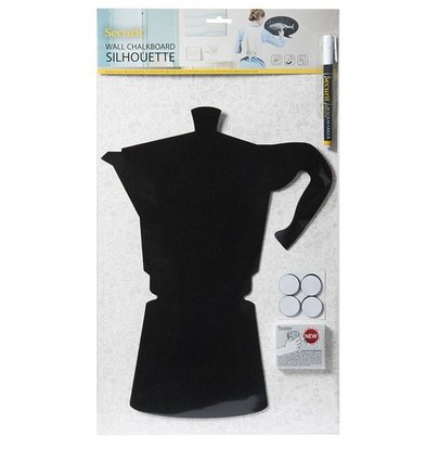 Securit Silhouette Moka | Incl. Chalkstick and Velcro Strips | 300x500mm