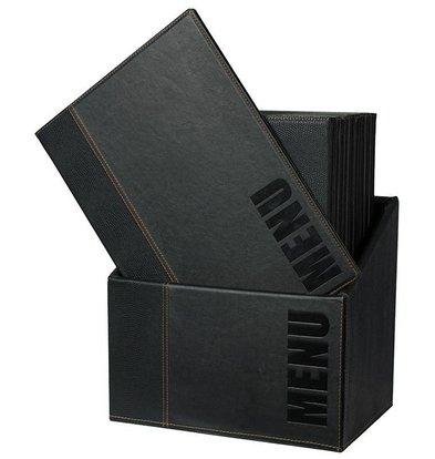 Securit Box incl. 20 Menu Cards Trendy | Blue | Format A4 | 370x290x210mm