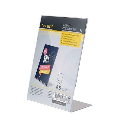 Securit Menu holder A5 | L-shaped Model