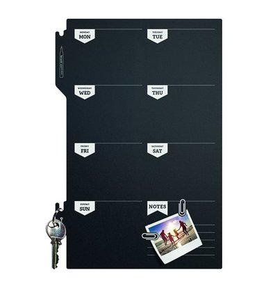 Securit Silhouette Weekplanner | Incl. Krijtstift en Klittenband Strips | 300x450mm