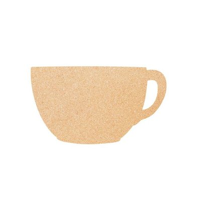 Securit Cork Silhouette CUP | Incl. Chalkstick, Adhesive tape and Pins | 300x450mm