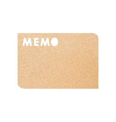 Securit Cork Silhouette MEMO | Incl. Chalkstick, Adhesive tape and Pins | 300x450mm