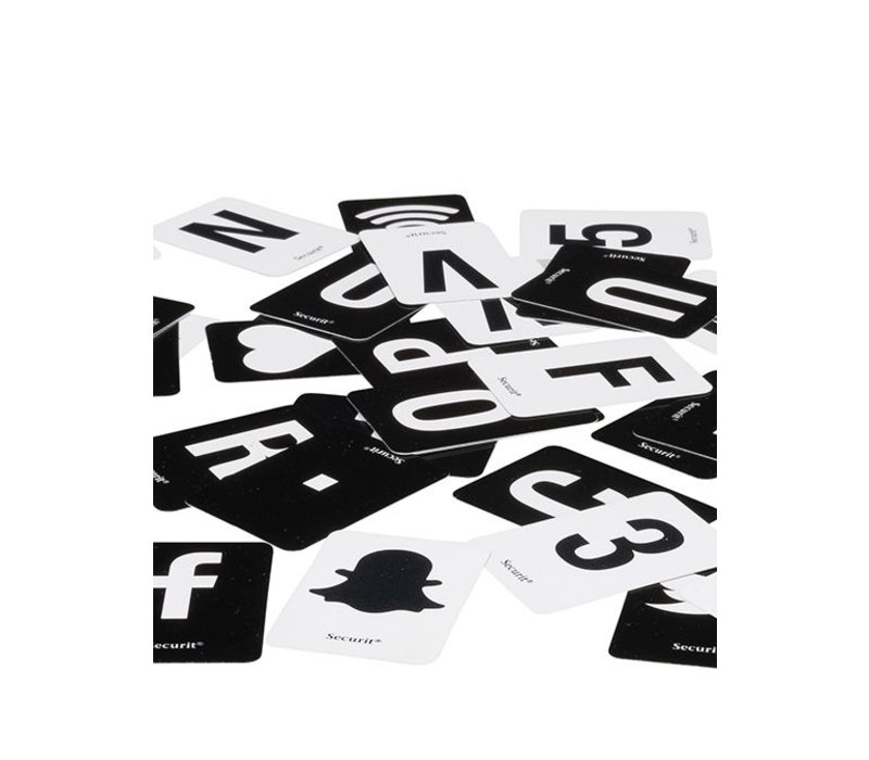 Securit Letterbord Zwart | incl. Letters en Cijfers | 1m plank