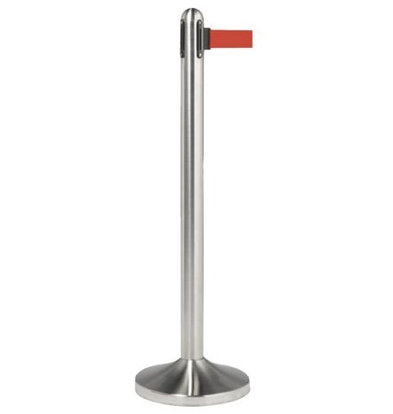 Securit Barrier pole Chrome | With red drawstring 210cm | Pole 1m x Ø30cm