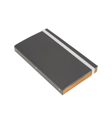 Securit Account Presentation folder | Gray, Leather Style | 179x100mm