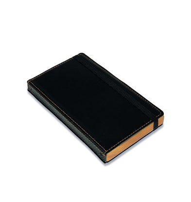 Securit Account Presentation folder | Black, Leather Style | 179x100mm