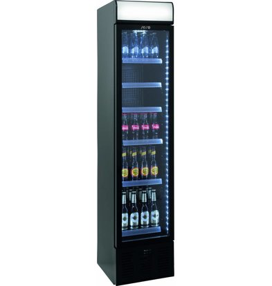 Saro Koevitrine Black | 134L | Led Lighting | 403x455x1905 (h) mm
