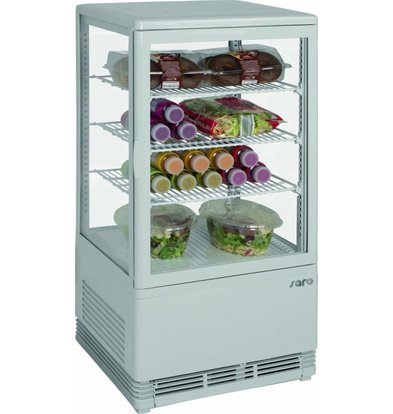 Saro Koelvitrine 70L Wit | 3 Roosters | 430x380x880(h)mm
