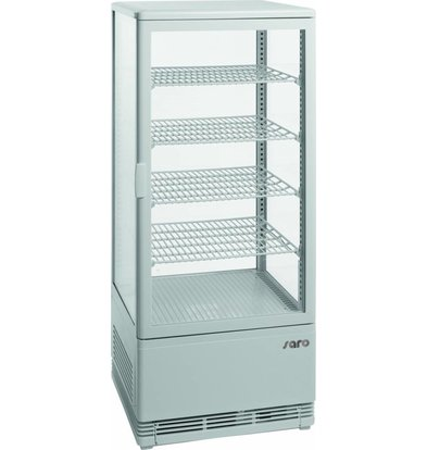 Saro Koelvitrine 98L Wit | 4 Roosters | 426x380x1105(h)mm