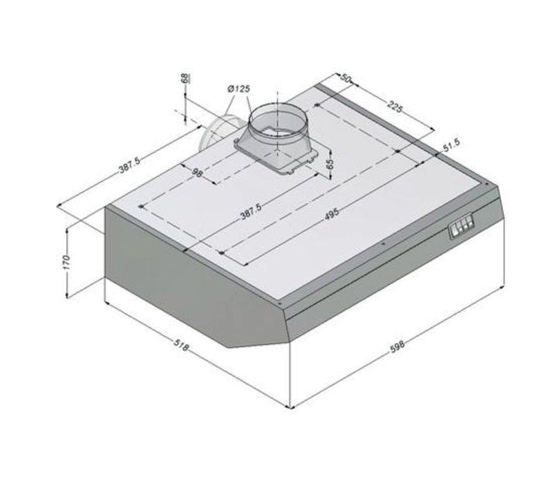 Bartscher Novy afzuigkap incl Motor en Verlichting | 600x52x(h)170mm