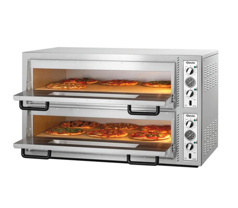 Bartscher Pizzaoven Dubbel Elektrisch | 2 x 6 Pizza's Ø30cm | 400V | 12kW | 1190x780x(H)710mm