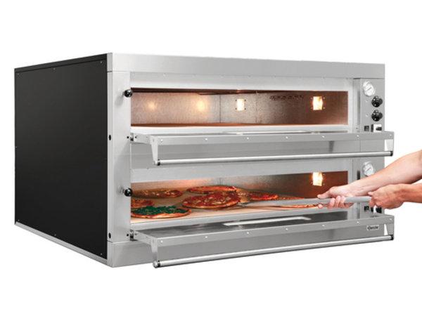 Bartscher Pizza Oven Dubbel Elektrisch | 2 x 9 Pizza's Ø33cm | 400V | 24kW | 1310x1270x(H)760mm
