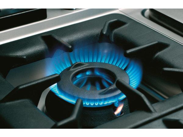 Bartscher 2-pits gasfornuis | met open onderbouw | Serie 700 | 9.1 kW op Gas | 400x700x(H)850/900 mm