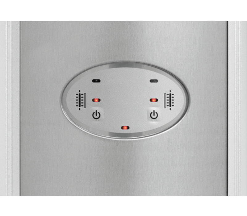 Bartscher Elektrische Infrarood Straalkachel | Aluminium | 3 Instelmogelijkheden | Incl. Afstandsbediening