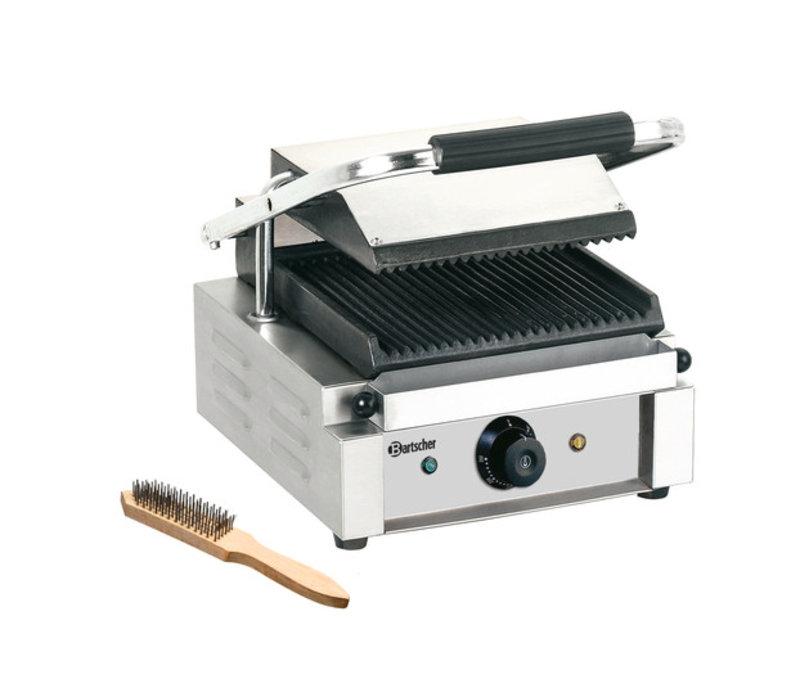 Bartscher Elektrische contact grill - Geribd/Geribd - 29x37x20(h) 1800W