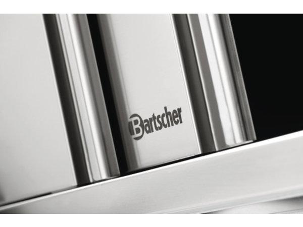 Bartscher Hangkast Roestvrij Staal - met 2 Schuifdeuren - 1 Verstelbaar Tussenschap | 1800(B) | 400(D) | 660(H)mm