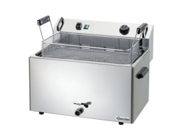 Bartscher Friteuse | Elektrisch | Bakkerij Vis en Oliebollen | 16 liter | 400V | 9kW | 560x470x(h)400mm