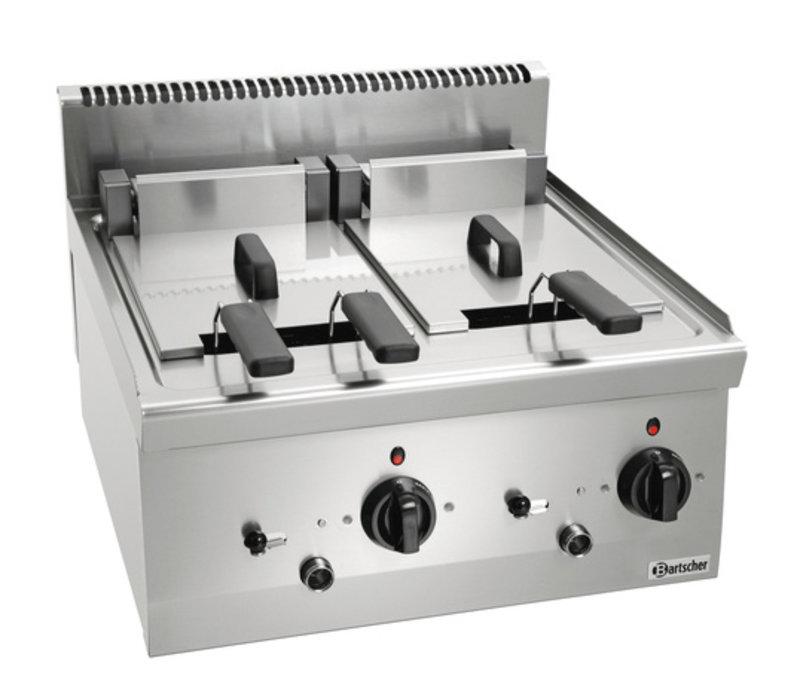Bartscher Elektrische Friteuse | Uitklapbaar Element | 2x8L | Serie 600 | 400V | 12,6kW | 600x600x(H)290 mm
