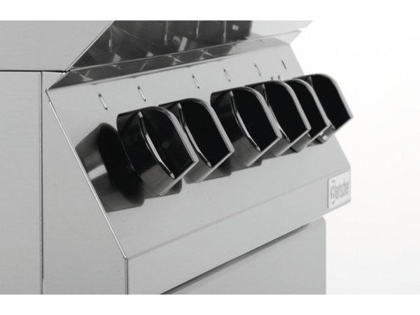 Bartscher Gas Fornuis 4-pits + Elektrische oven 2/1 GN | 400V | 800x700x(H)910mm