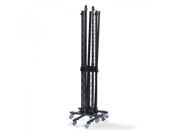 XXLselect Trolley voor Garderoberek SMALL | voor 2 rekken | 250x230x830(h)mm