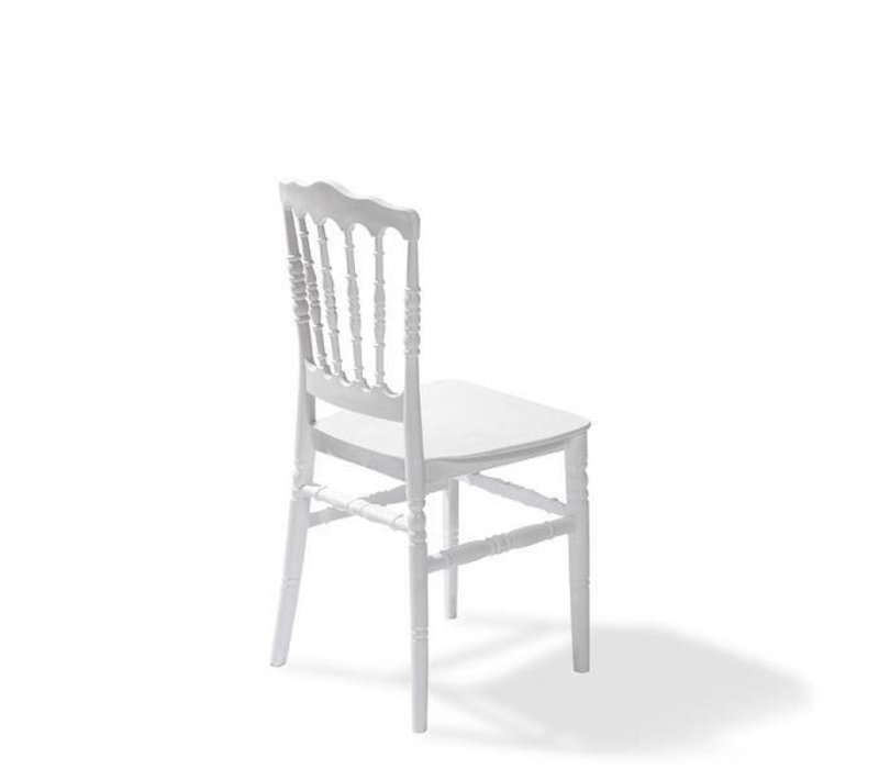 XXLselect Wedding Chair Napoleon   Wit Kunststof   41x43x90(h)cm   Per 8 Stuks