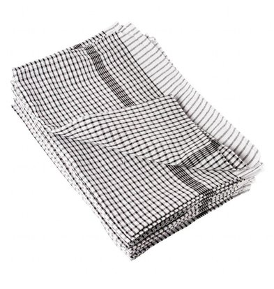 Vogue 10x Tea Towels 95% Cotton and Checkered - Price per 10 pieces - 4 colors - 76.2x50.8 cm - XXL OFFER!