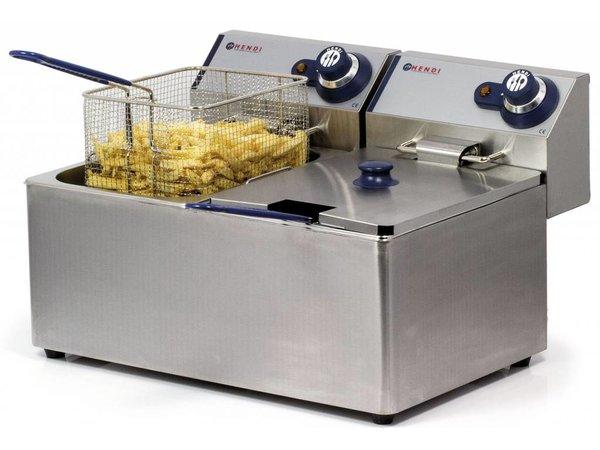 Hendi fryer | Hendi 205839 Blue Line | 2x8 Liter | 2x3,5kW | 550x430x (H) 345mm | XXL OFFER