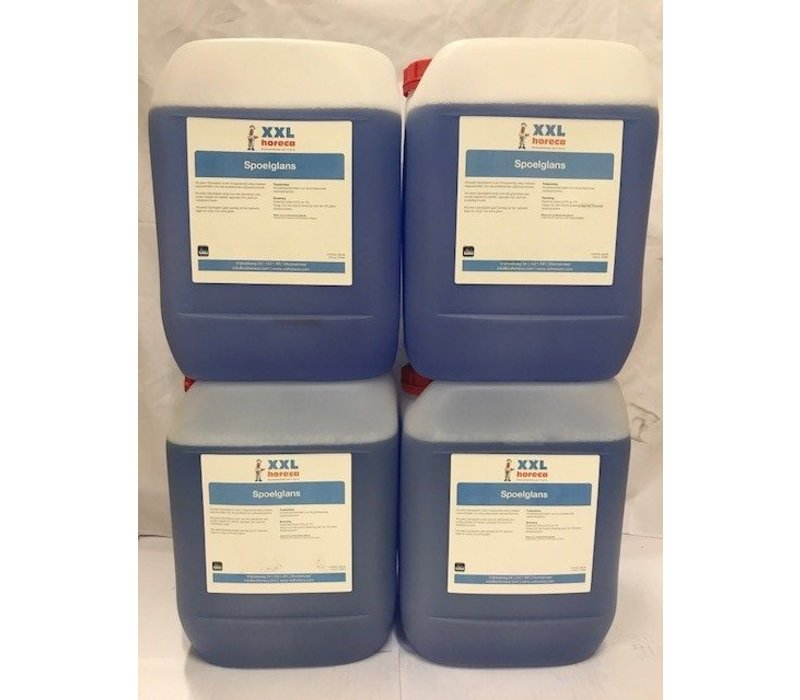 XXLselect Professioneel Naglansmiddel voor Horeca Vaatwassers | 10 Liter | Prijs per 4x 10 Liter