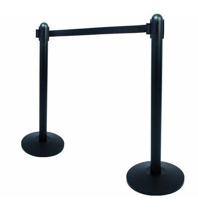 Securit Barrier post Black 13kg - black drawstring 210 cm - HEAVY DUTY - XXL OFFER!