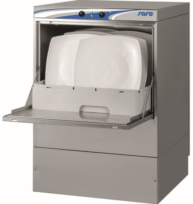 Saro Dishwasher Horeca Double walled | MADE IN EUROPE 50x50cm | Glaze + Soap dispenser + Drain pump + Dirt filter | 230V