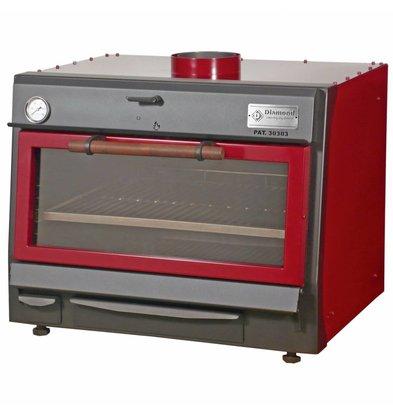 Diamond Houtskool Oven - BBQ   GN1/1+ GN2/4   75kg/uur   800x675(990)xh690mm