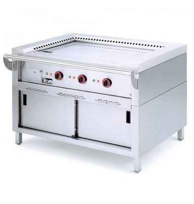 Diamond Teppanyaki Grill Electric 2 x 3.5 KW with Mount - 120x77x85cm