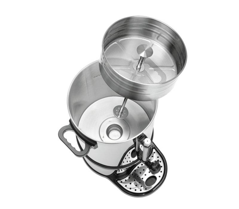 Bartscher Percolator RVS | Met Kopjesstandaard | Ø270x(H)575mm | 100 Kopjes | 15 Liter | PROFESSIONEEL