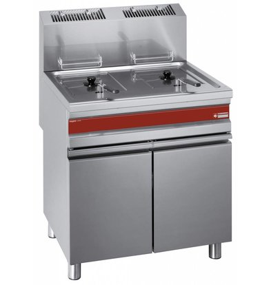 Diamond fryer | gas | 2x15 liters | With Mount | 75x65x (h) 84 / 101cm