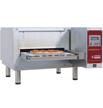 Diamond Tunneloven Elektrisch | Pizza max. Ø400mm | 400V | 800x1270xh390mm