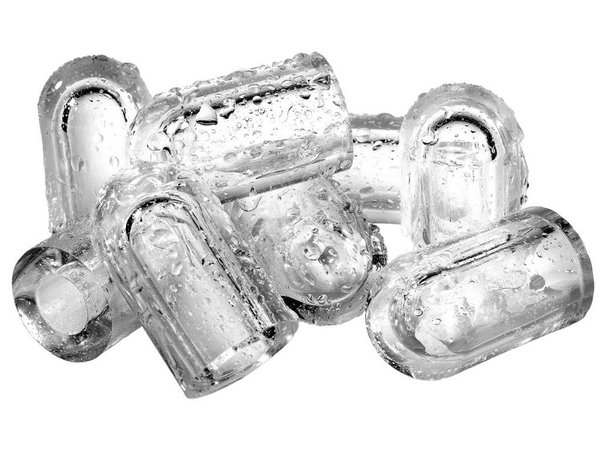 Diamond Ice cubes Machine 22kg / 24hr RVS - Storage 9KG - Hollow ice cubes